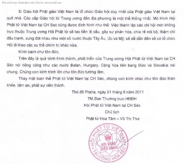 Phi chng Hi Pht t Vit Nam ti S&eacute;c ang c&oacute; m&acirc;u thun ln