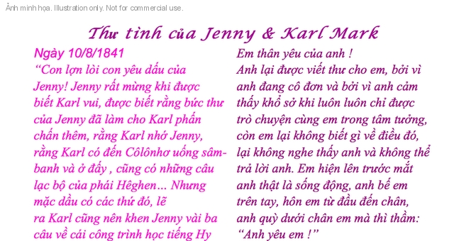 Th t&igrave;nh ca Jenny v&agrave; karl Mark