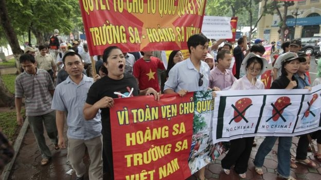 Vietnamese demonstrators have taken to the streets in Hanoi every Sunday for about 10 weeks to protest against Chinese actions in the South China Sea.