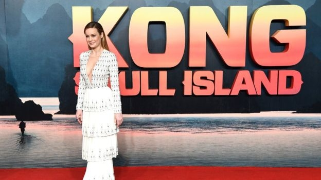 Brie Larson in Kong premiere in London