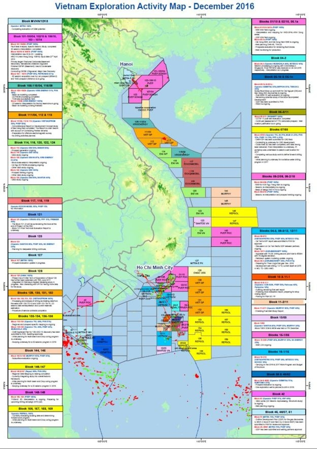 Oil and Gas map