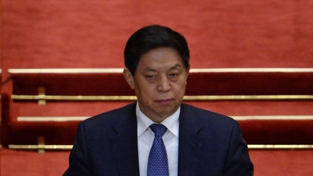 Li Zhanshu attends the opening of the third session of the 12th National People's Congress at the Great Hall of the People in Beijing on 5 March 2015.