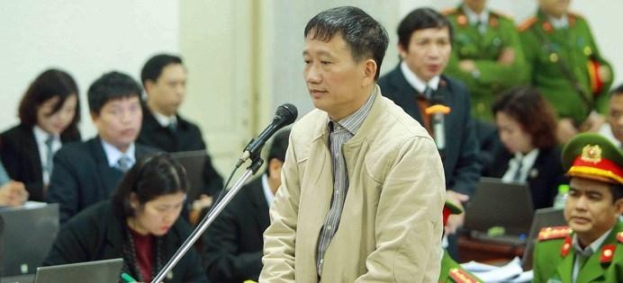Bị cáo Trịnh Xuân Thanh khóc trước tòa, nói 'có lỗi với anh Thăng, các anh lãnh đạo' - Ảnh 1