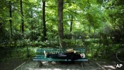 """Một góc công viên ở Berlin nơi phía Đức cáo buộc Việt Nam """"bắt cóc"""" ông Thanh."""
