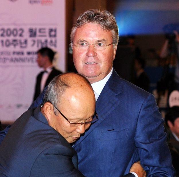 Ông Park từng là thành viên trong nhóm huấn luyện của Guus Hiddink