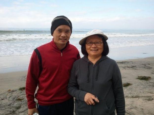 Mẹ ông Darren Cường Trần trước khi bà phát hiện bị ung thư máu vào 2012