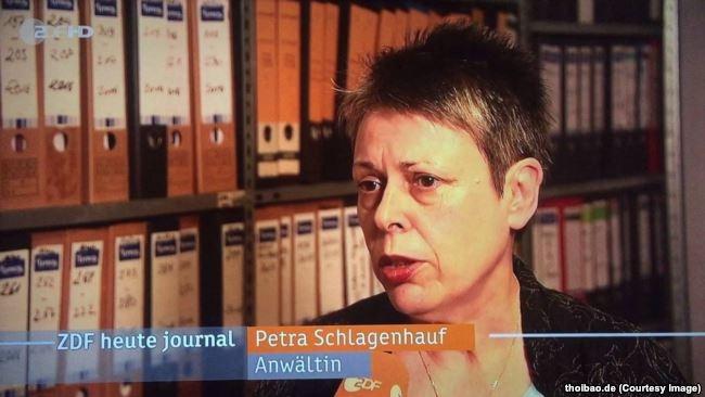 Bà Petra Schlagenhauf, nữ luật sư người Đức của ông Trịnh Xuân Thanh.