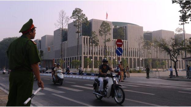 Nhà Quốc hội Việt Nam, được xây dựng xong năm 2014.