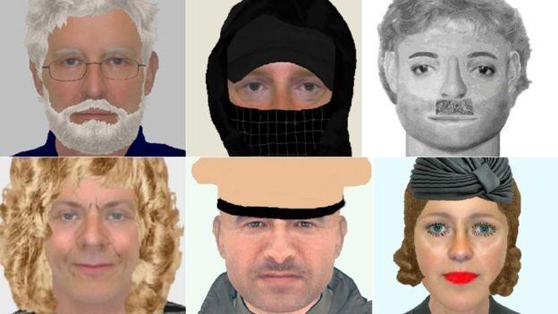 Ở Anh, ảnh phác họa nghi phạm được gọi là 'e-fits