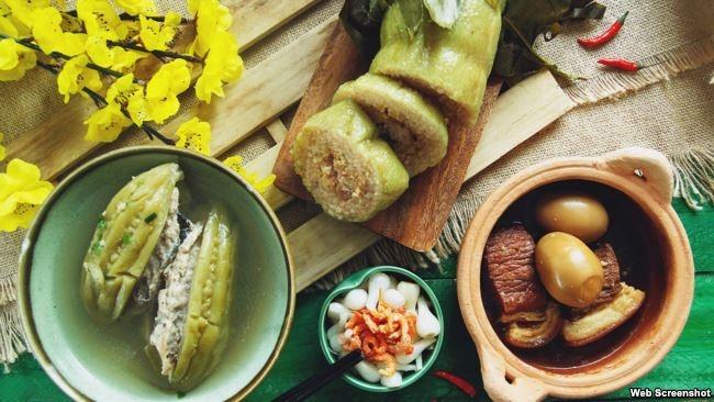 Một số món ăn ngày Tết (Ảnh: Kenh14)