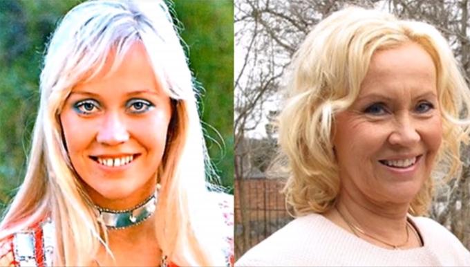 Agnetha Faltskog ngày ấy và bây giờ ở tuổi 67.
