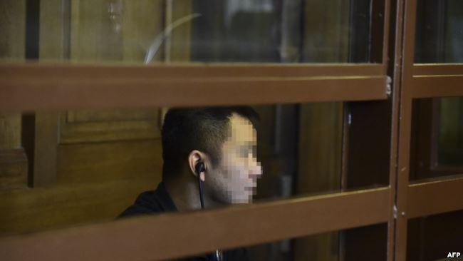 Bị cáo Long N. H., còn gọi là Nguyễn Hải Long, tại phiên tòa ngày 24/4/2018, tại Berlin, Đức.