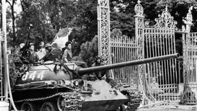 Lực lượng Bắc Việt tiến vào Sài gòn ngày 30/4/1975, nay là thành phố Hồ Chí Minh.