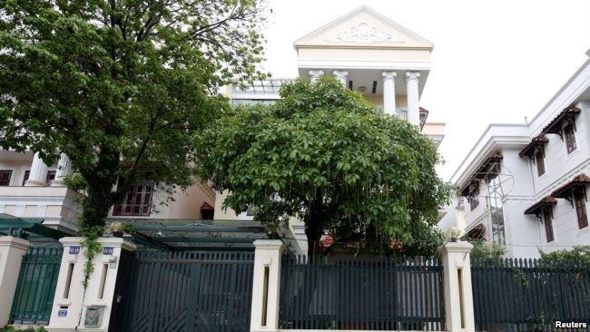 Biệt thự được cho là của gia đình ông Thanh ở Hà Nội.