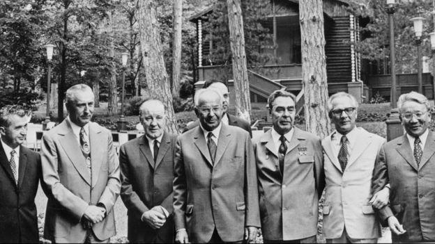 Brezhnev và lãnh đạo khối Hiệp ước Warsaw