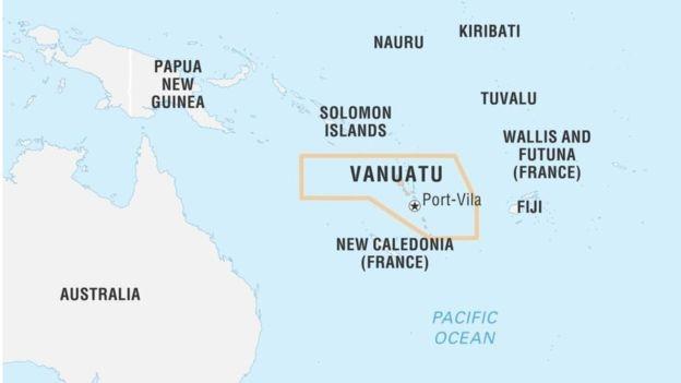 Vanuatu chỉ cách Sydney 1500 hải lý về hướng đông bắc