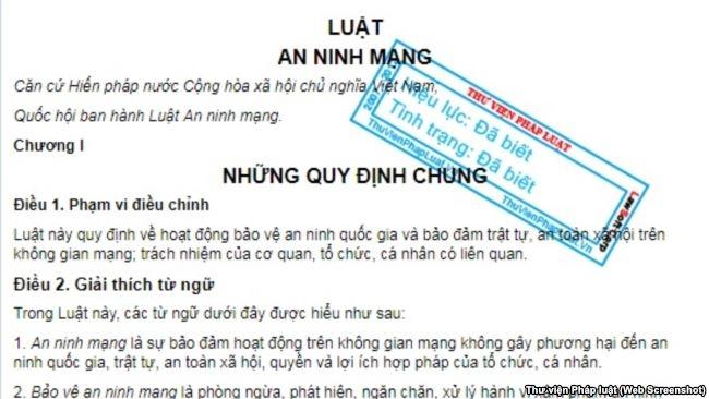 Luật an ninh mạng vừa được Quốc hội Việt Nam thông qua với 86% số phiếu ủng hộ.
