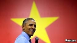 Ông Obama trong chuyến thăm Việt Nam năm 2016.
