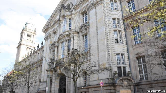 Tòa Thượng thẩm Berlin, nơi xét xử ông Nguyễn Hải Long, ngày 24/4/2018. Ảnh: Lê Trung Khoa