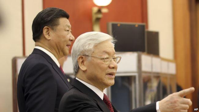 Chủ tịch Trung Quốc Tập Cận Bình và Tổng Bí thư Việt Nam Nguyễn Phú Trọng, tháng 11/2017.