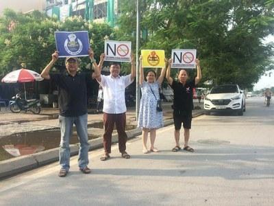 Hoạt động biểu tỉnh nhỏ nhoi có thể tổ chức được tại Hà Nội bằng tất cả mọi cố gắng