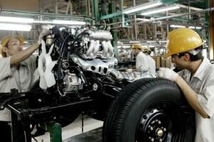 Dây chuyền lắp ráp động cơ tại nhà máy Toyota ở Vĩnh Phúc.