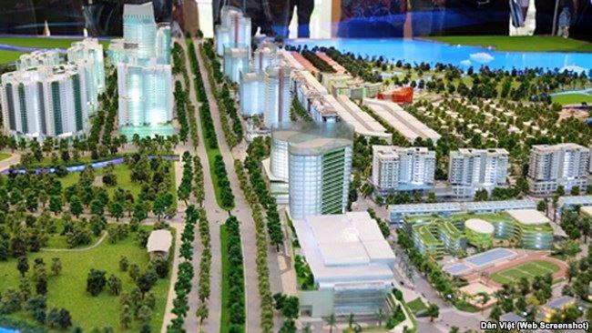 Khu đô thị mới Thủ Thiêm trong tương lai.