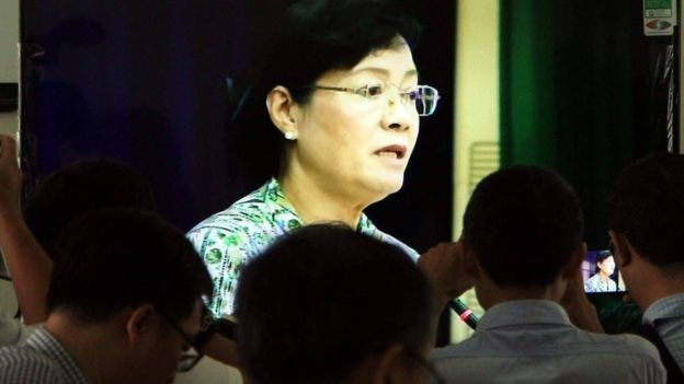 Chủ tịch HĐND TP HCM Nguyễn Thị Quyết Tâm tại buổi tiếp dân hôm 18/10