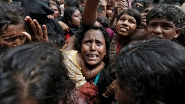Một phụ nữ người tị nạn Rohingya