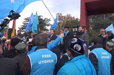 Biểu tình đòi tự do cho người Duy Ngô Nhĩ ở trụ sở Liên Hiệp Quốc tại Geneva, Thụy Sĩ hôm 6/11/2018