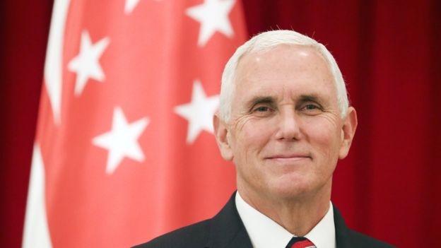 Phó Tổng thống Mỹ Mike Pence ở Singapore hôm 16/11