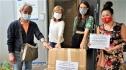 Phụ nữ người Việt ở Đức tặng 900 khẩu trang cho Tổ chức nhân đạo Berlin