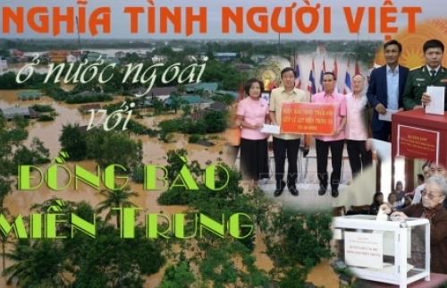 Nghĩa tình người Việt ở nước ngoài với đồng bào miền Trung